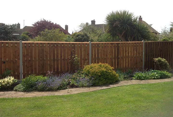 Garden Fence with Concrete Posts